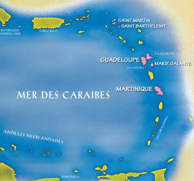 Kleine Antillen Karte.Landerinfos Franzosische Antillen Guadeloupe Martinique