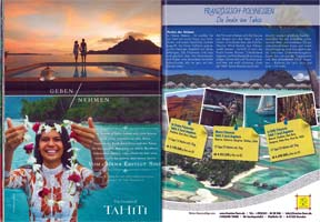 L'Evasion Tours als Polynesien Reiseveranstalter im Schweizer Fernweh Magazin 04/2017