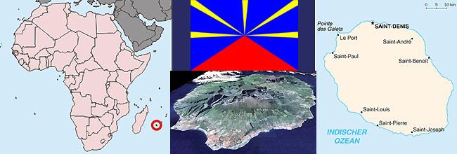 Lage von Reunion Geografie